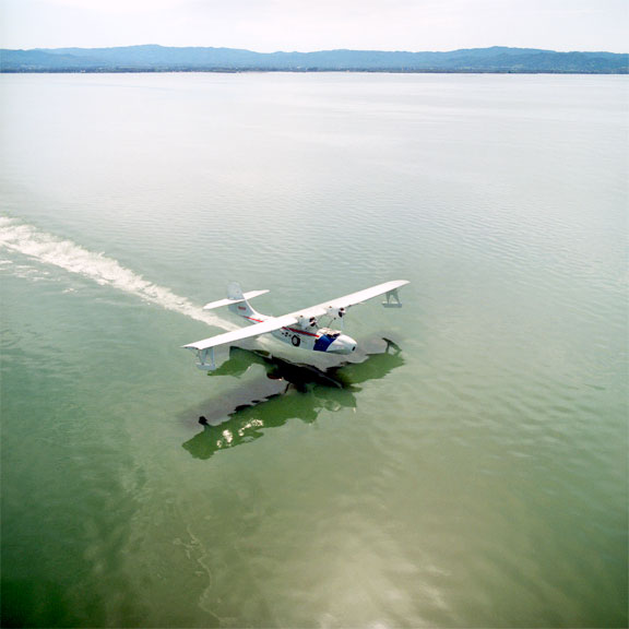 PBY-5A Catalina taking off from Clear Lake, CA