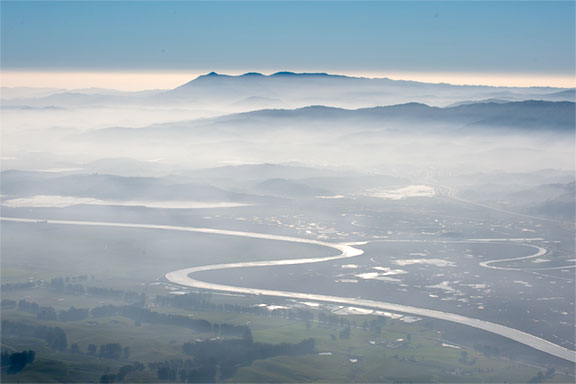 Petaluma River and Mt. Tam
