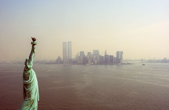 Statue of Liberty and Lower Manhattan